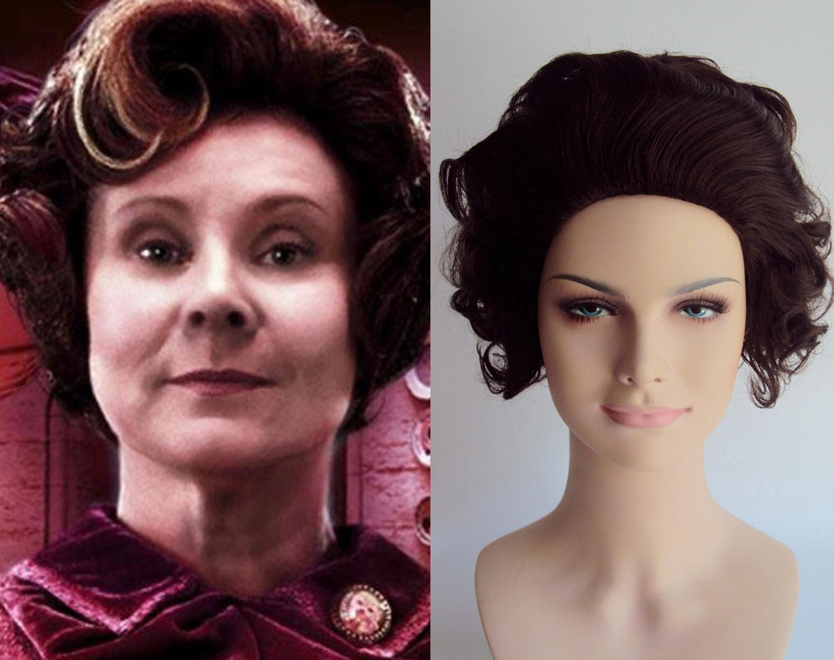 Brown Granny Costume Wig