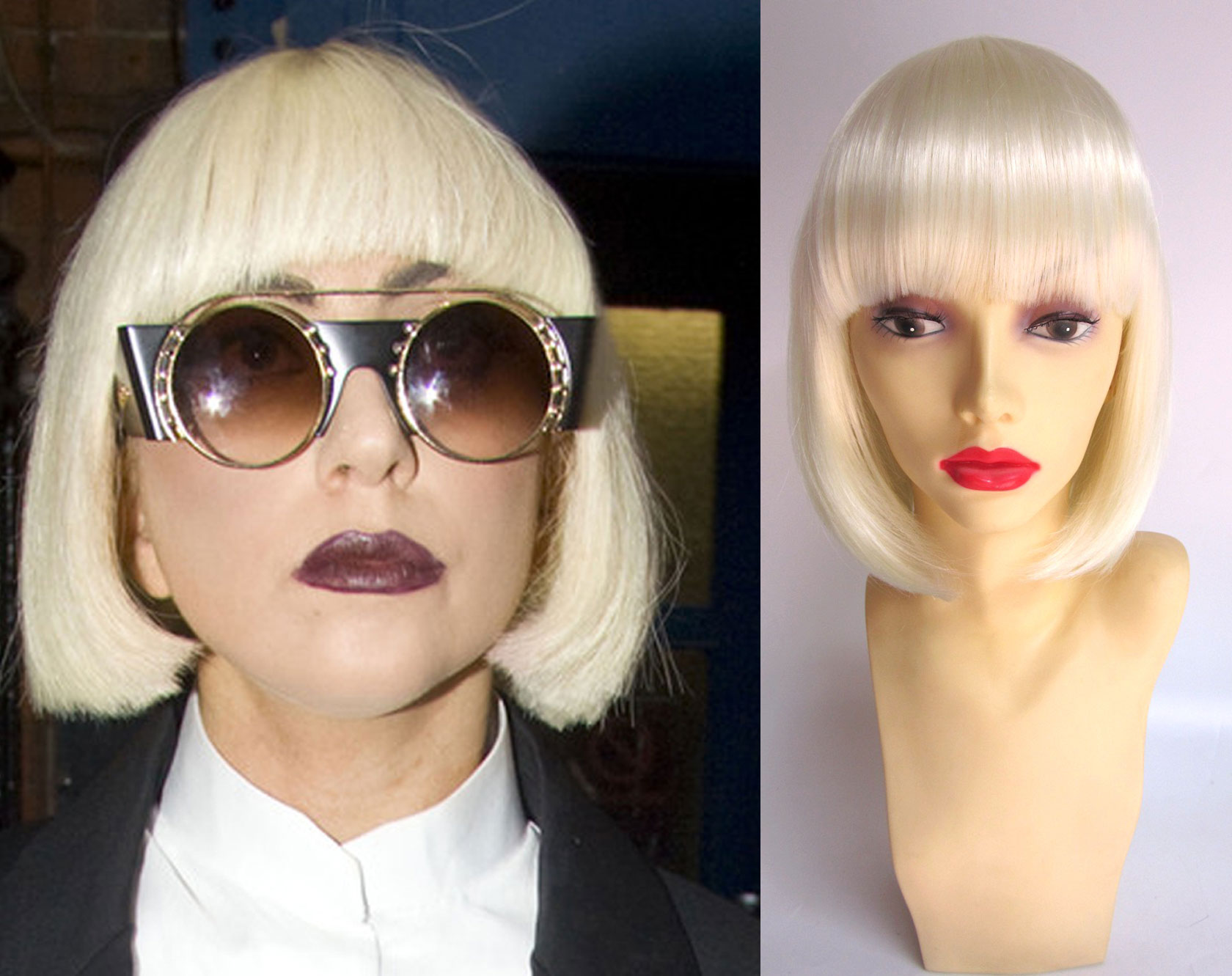 Lady Gaga Blonde Bob Wig
