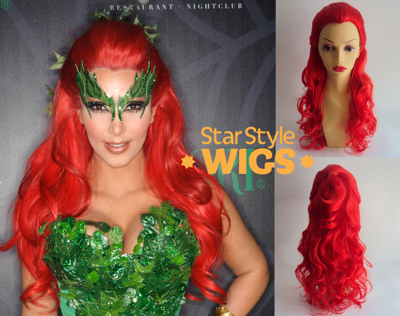 poison ivy hair style poison hair and makeup guide costume 2354 | KIM POISON IVY LOGO